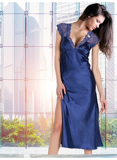 Miorre Fantezi Gecelik String Takım Mavi